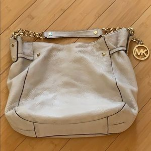 Authentic Cream Michael Kors Handbag